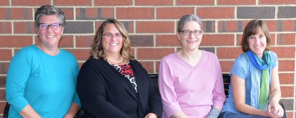 OLLI University Park Staff: Emily Hoffman, Brynn Rousselin, Doris Mack, and Spring Younkin