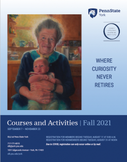 The cover of the OLLI York fall 2021 course catalog