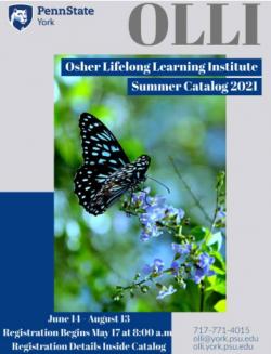 OLLI York printable course catalog cover